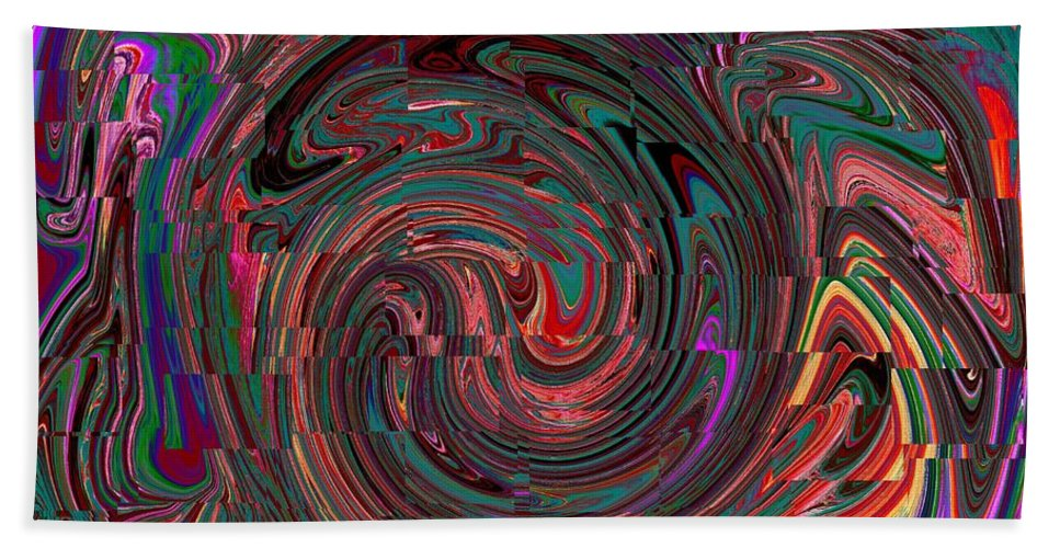 Abstract Hand Towel featuring the photograph Swirlpool Squared by Tim Allen