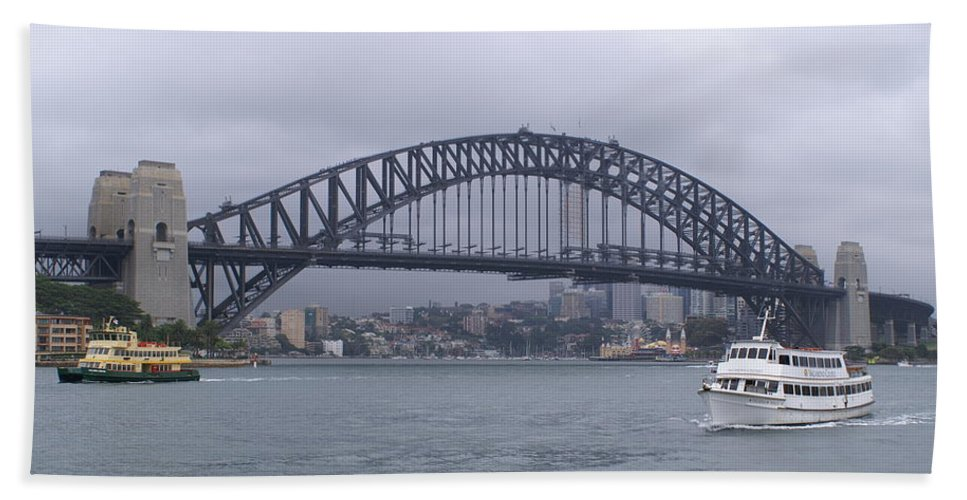 Sydney Harbour Bridge Bath Sheet featuring the photograph Sydney Harbour Bridge by Brian Leverton