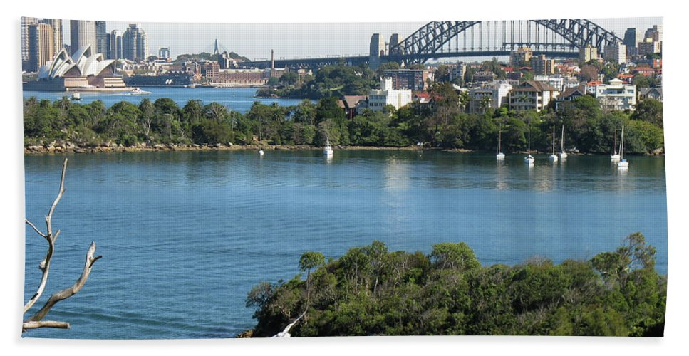 Sydney Harbour Hand Towel featuring the photograph Sydney Harbour by Suzanne Vreeland