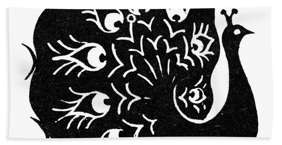 Peacock Bath Sheet featuring the photograph Symbol: Peacock by Granger