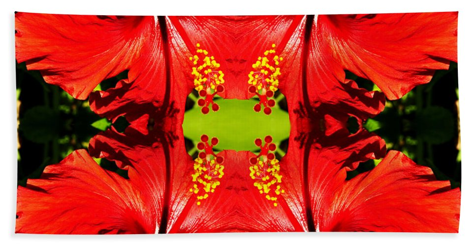 Clay Bath Towel featuring the photograph Symmetry by Clayton Bruster
