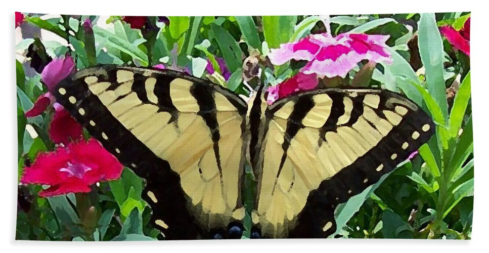 Swallowtail Hand Towel featuring the photograph Symmetry by Sandi OReilly