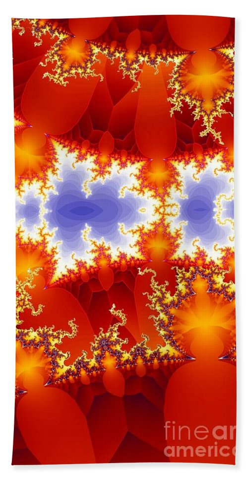Fractal Hand Towel featuring the digital art Synapse 4 by Ron Bissett