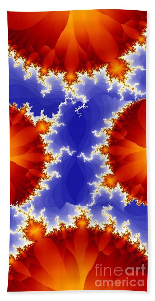 Fractal Hand Towel featuring the digital art Synaptic 5 by Ron Bissett