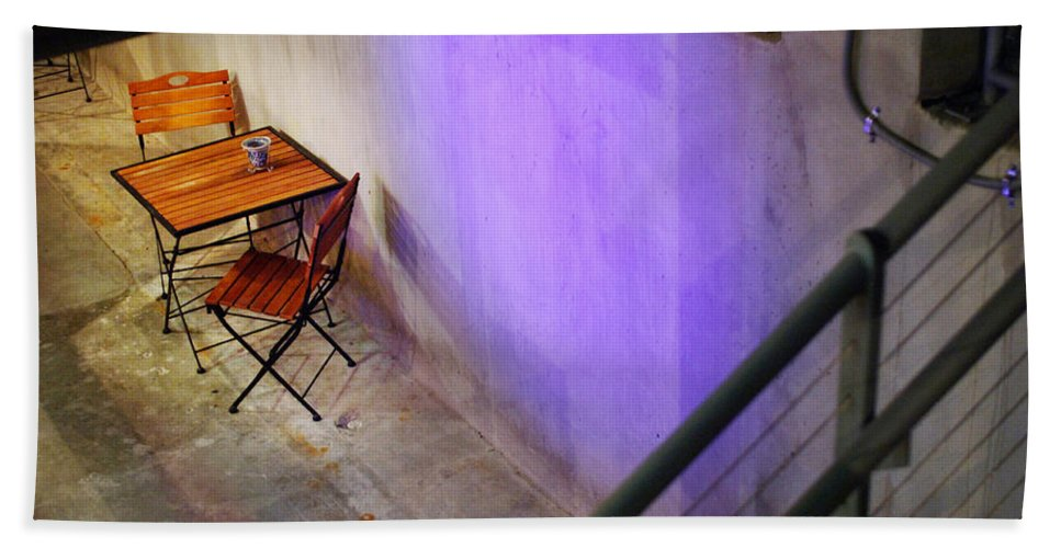 Cafe Bath Towel featuring the photograph Table For Two by Jill Reger