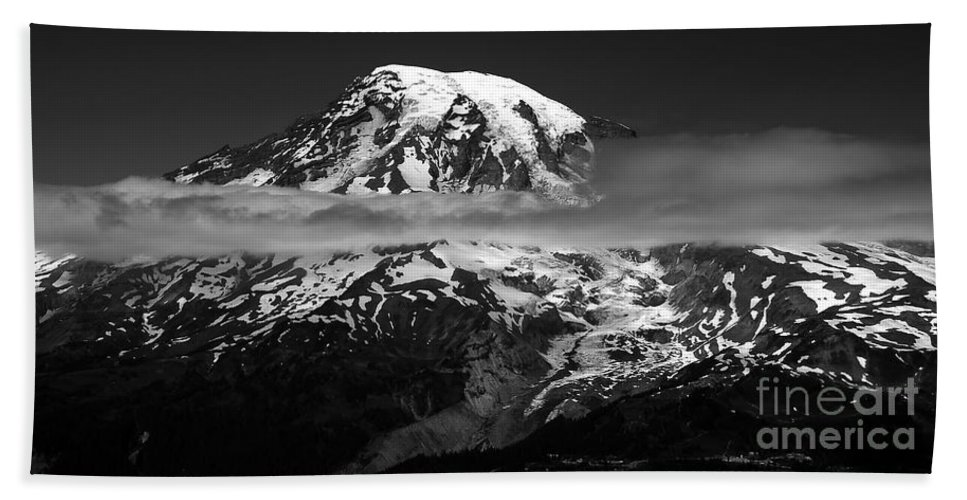 Fine Art Photography Bath Sheet featuring the photograph Tahoma by David Lee Thompson