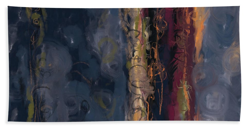 Hand Towel featuring the mixed media Take It Easy by Christine McCosmoes