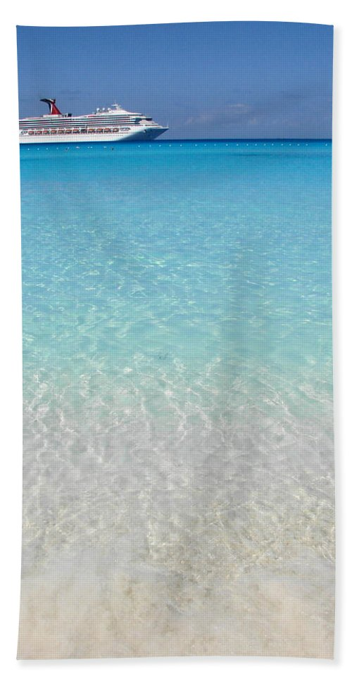 Caribbean Cruise Bath Sheet featuring the photograph Take Me Back to Half Moon Cay by Margaret Bobb