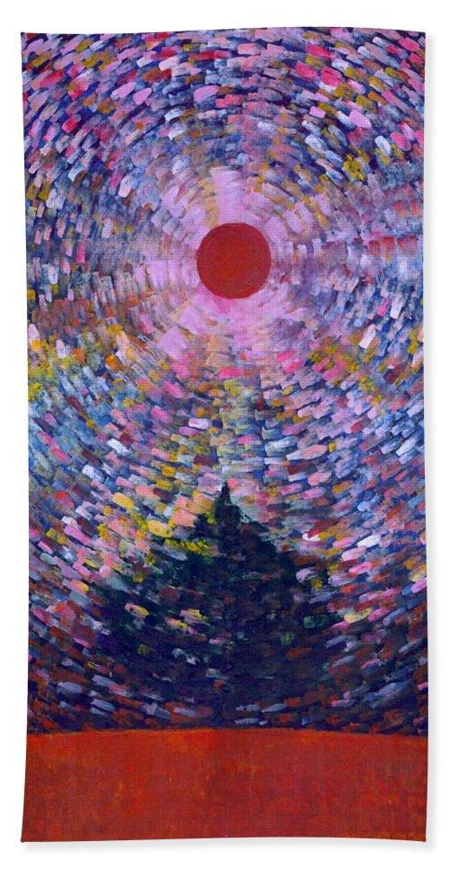 Colour Bath Sheet featuring the painting Take Me by Wojtek Kowalski
