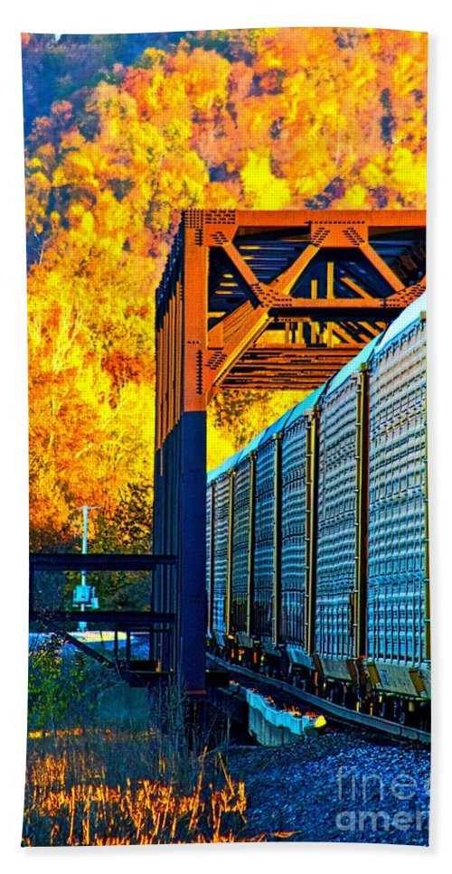 Train Hand Towel featuring the photograph Take The Long Way Home by Ty Shults