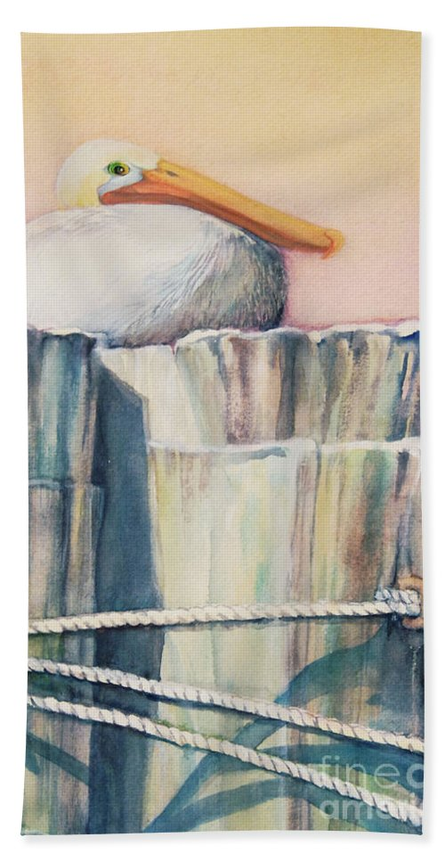 Top Artist Bath Sheet featuring the painting Taking A Break by Sharon Nelson-Bianco
