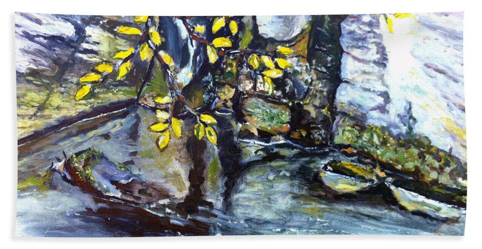 Landscape Bath Sheet featuring the painting Talir by Pablo de Choros