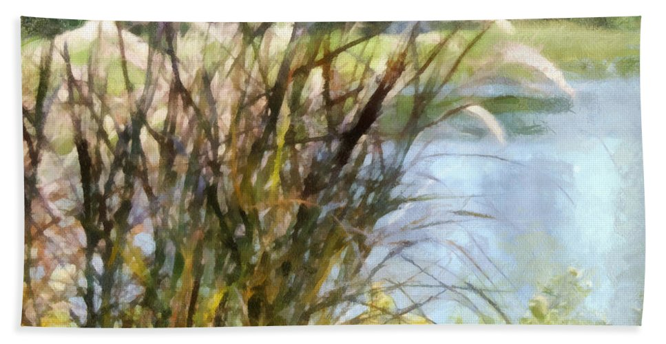 Tall Bath Sheet featuring the photograph Tall Grasses by Paulette B Wright