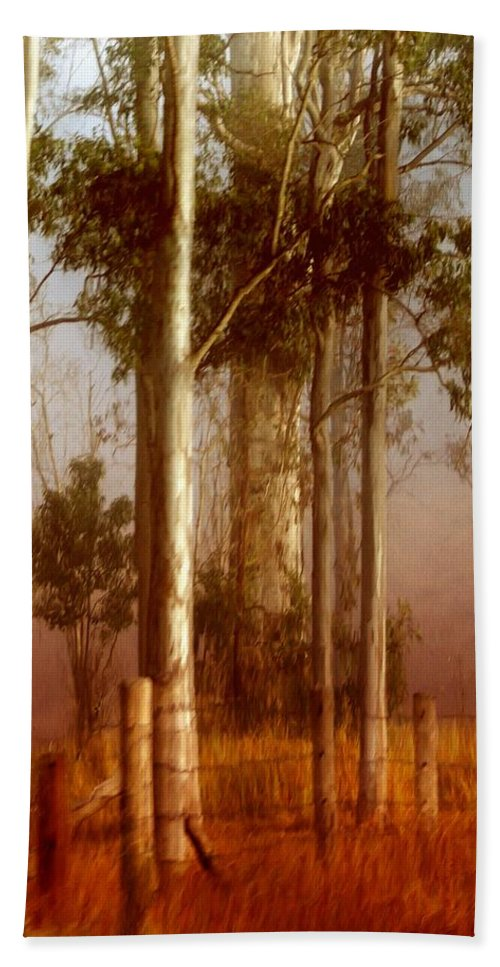 Landscape Hand Towel featuring the photograph Tall Timbers by Holly Kempe