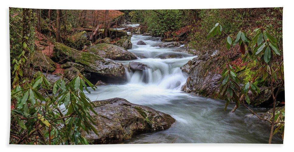 River Bath Sheet featuring the photograph Tallulah River by Doug Camara