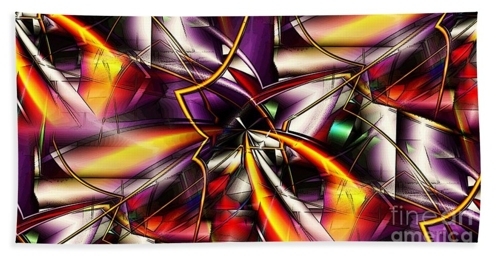 Abstract Bath Sheet featuring the digital art Talons by Ron Bissett