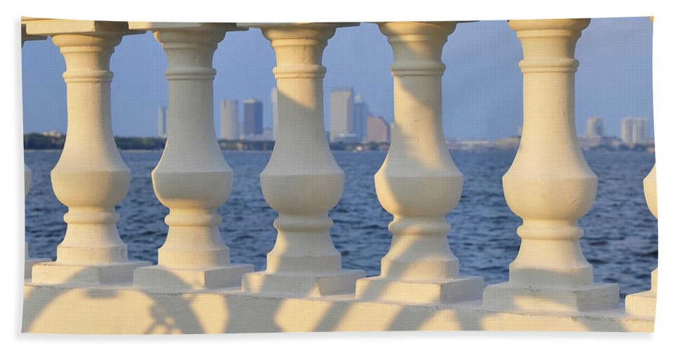 Fine Art Photography Bath Sheet featuring the photograph Tampa Bay Cycling by David Lee Thompson