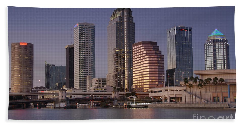 Tampa Florida Hand Towel featuring the photograph Tampa Florida by David Lee Thompson