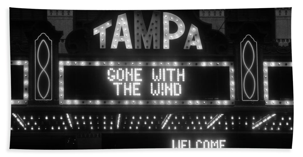 Tampa Theatre Hand Towel featuring the photograph Tampa Theatre 1939 by David Lee Thompson