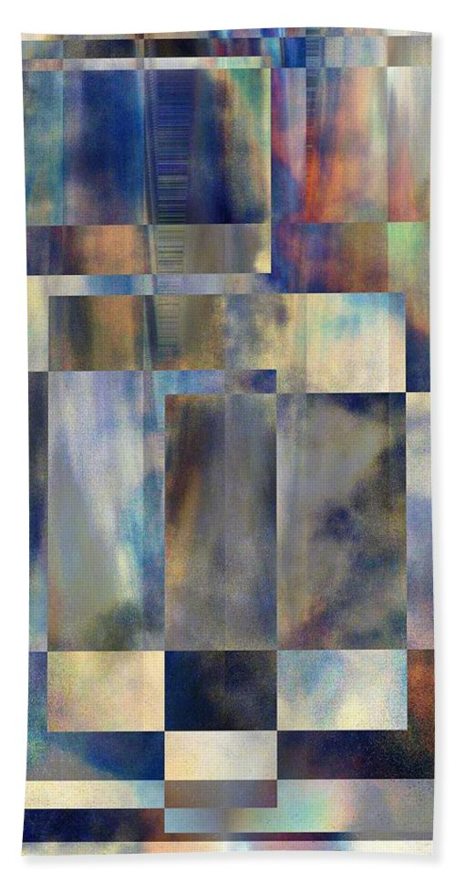 Abstract Bath Sheet featuring the digital art Tango In The Sky by Tim Allen