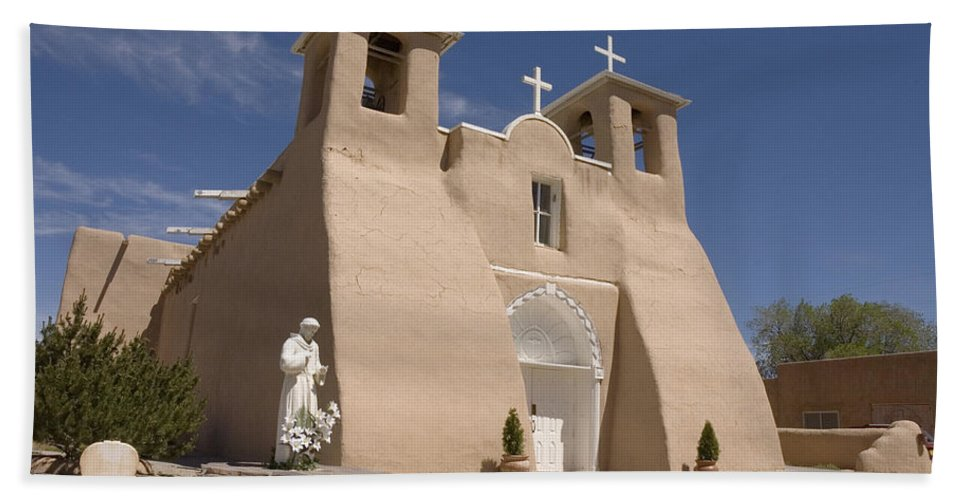 Church Bath Sheet featuring the photograph Taos Landmark by Jerry McElroy