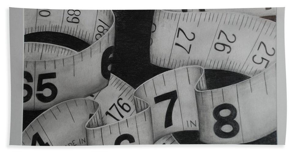 Numbers Bath Sheet featuring the photograph Tape Measure by Rob Hans