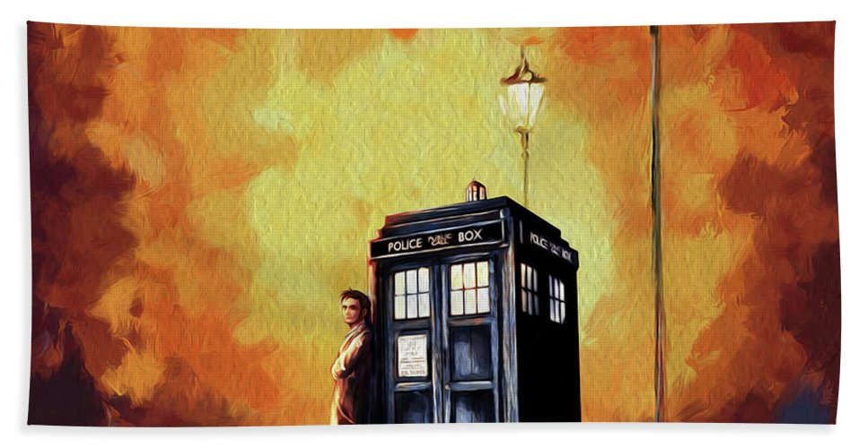 Tardis Doctor Who Art Painting Bath Towel for Sale by Koko Priyanto