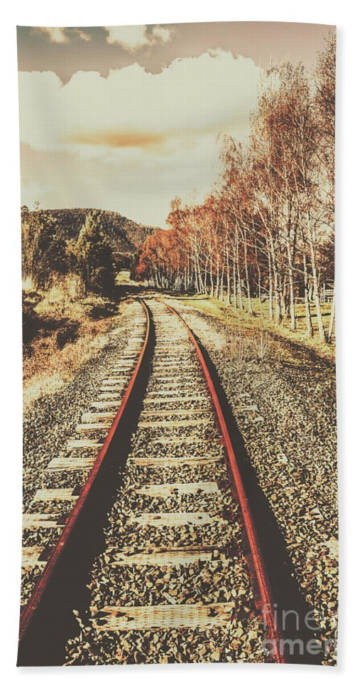 Vintage Bath Towel featuring the photograph Tasmanian Country Tracks by Jorgo Photography - Wall Art Gallery