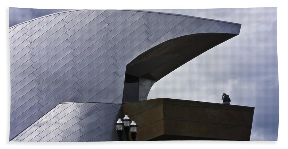 Roanoke Hand Towel featuring the photograph Taubman Ledge Sculpture Roanoke Virginia by Teresa Mucha