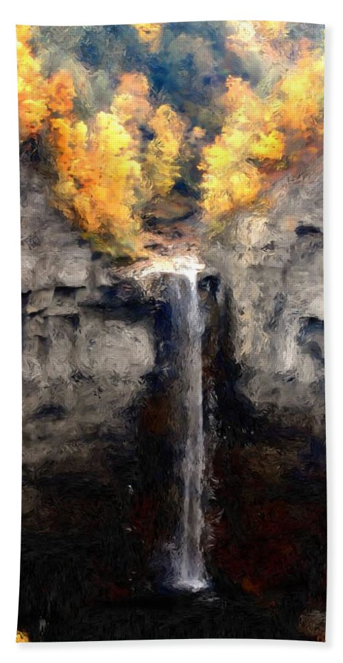 Taughannock Falls Hand Towel featuring the photograph Taughannock Falls by David Lane