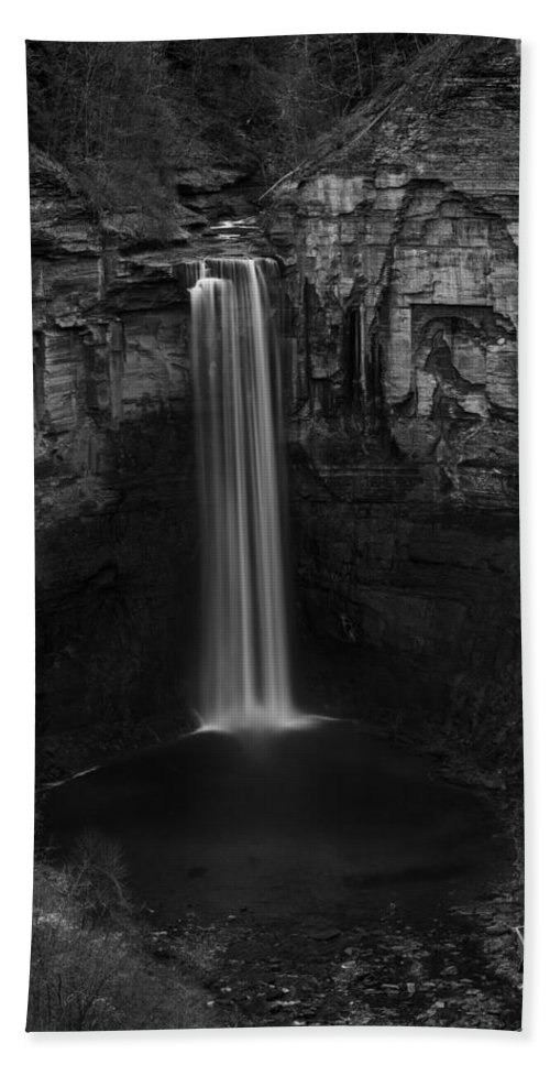 Taughannock Falls Hand Towel featuring the photograph Taughannock Falls Late November by Stephen Stookey