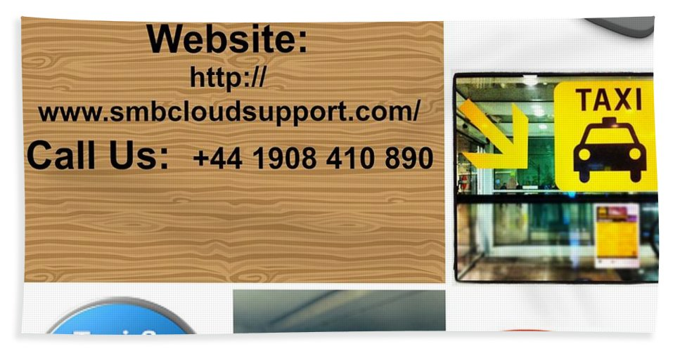 Taxi Dispatch Systems Bath Sheet featuring the photograph Taxi Booking Application by SMBCloudSupport