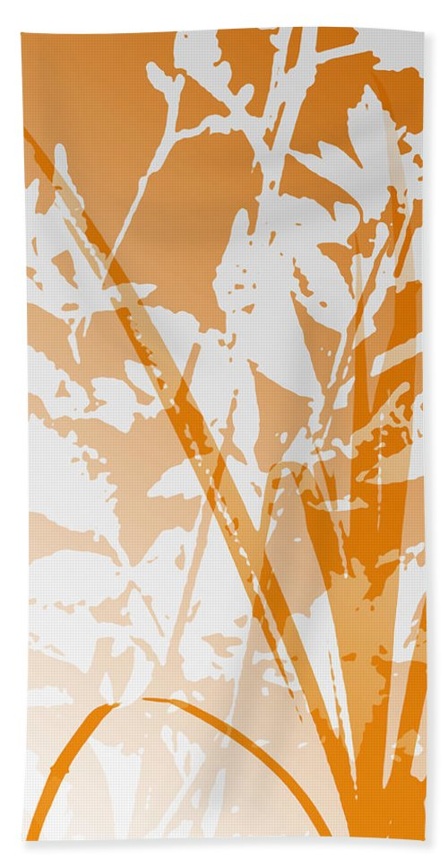 Abstract Hand Towel featuring the digital art Team Orange by Ruth Palmer