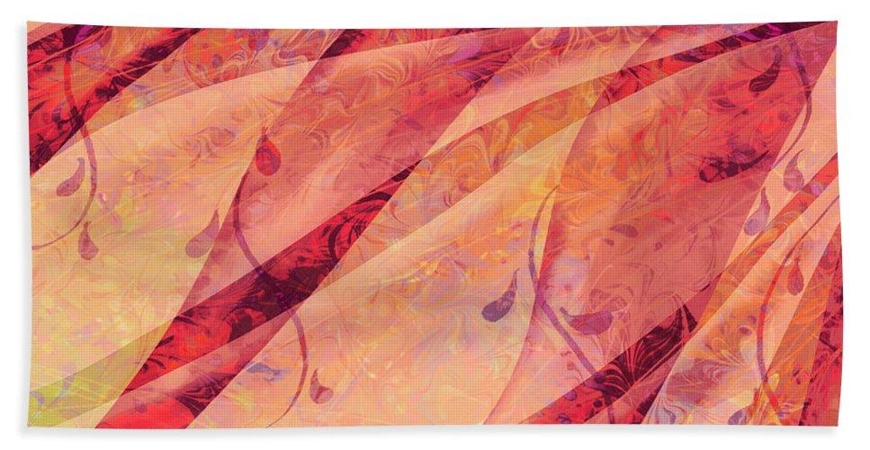 Abstract Bath Sheet featuring the digital art Tear Catcher by Rachel Christine Nowicki