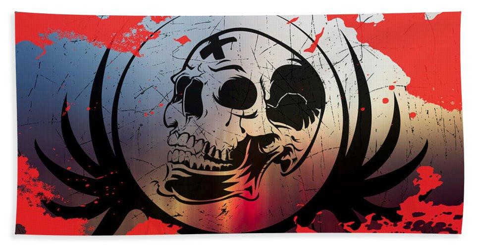 Tears Bath Sheet featuring the digital art Tears Of A Clown by Michael Damiani
