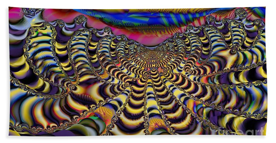 Cloudy Day Bath Sheet featuring the digital art Technicloudy by Ron Bissett