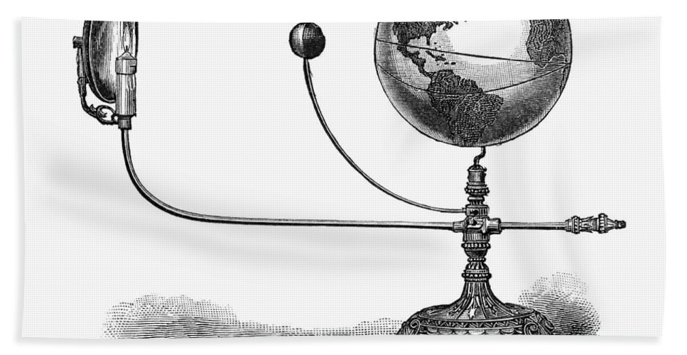 19th Century Hand Towel featuring the photograph Tellurian Globe by Granger