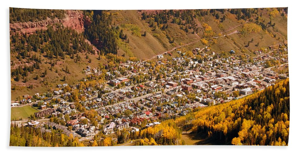 Telluride Colorado Bath Towel featuring the photograph Telluride by David Lee Thompson