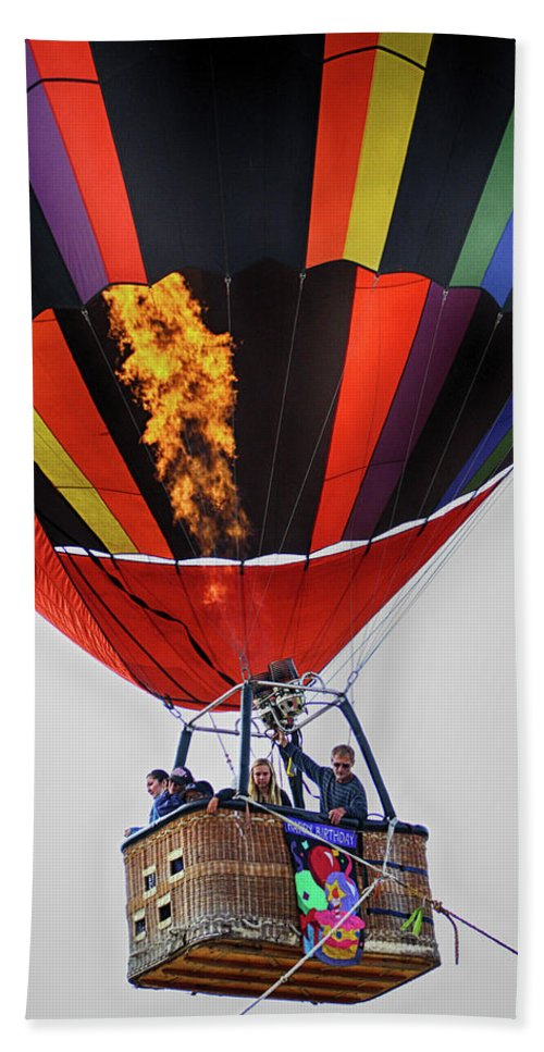 Ascension Hand Towel featuring the photograph Temecula, Ca - Flames Over Wine Country by Tommy Anderson