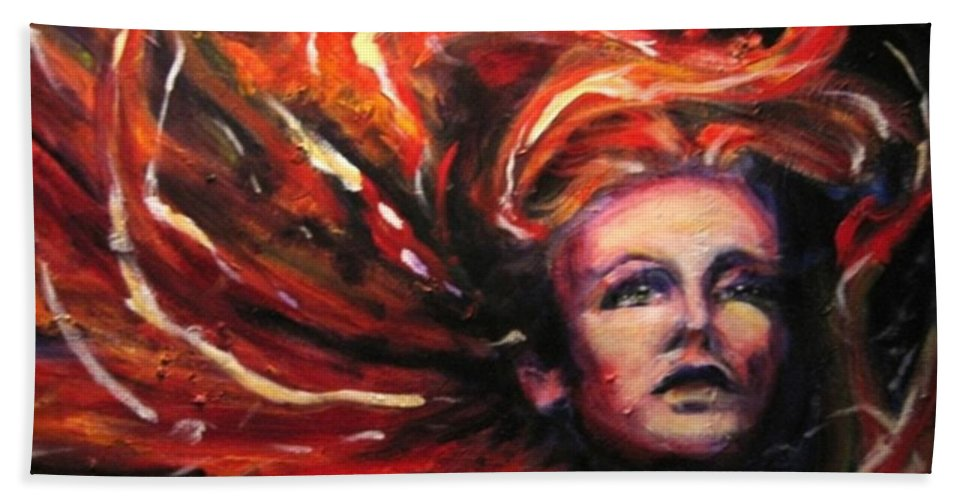 Bright Hand Towel featuring the painting Tempest by Jason Reinhardt