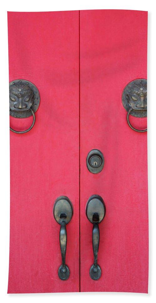 Doors Bath Sheet featuring the photograph Temple Doors by Carlos Diaz