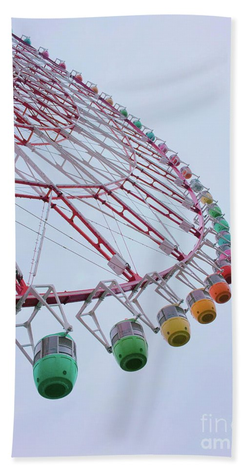 Japan Bath Sheet featuring the photograph Tempozan Ferris Wheel by Minhee Park