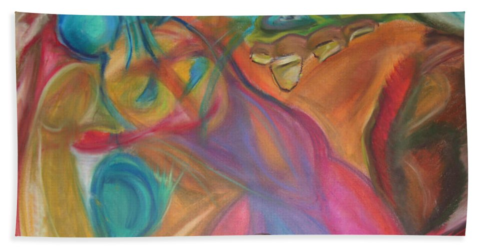 Bath Sheet featuring the pastel Temptation by Sitara Bruns