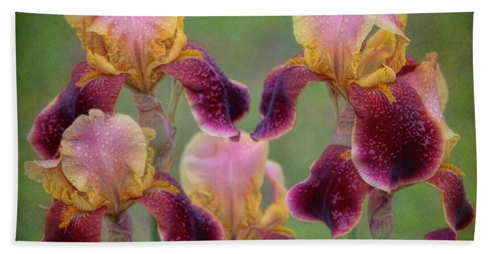 Iris Bath Sheet featuring the photograph Tenderly by Elizabeth Winter