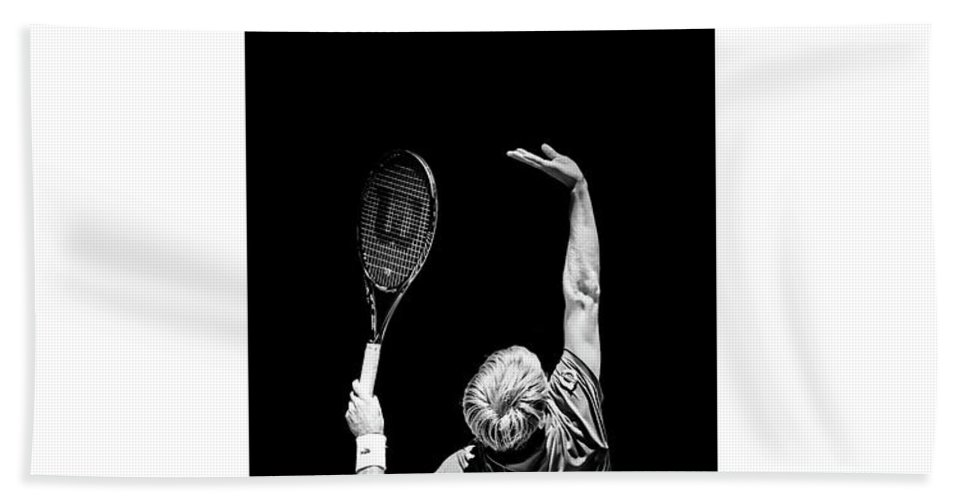 Tennis Bath Sheet featuring the photograph Tennis A Game Of Love And Service by Karl Knox Images
