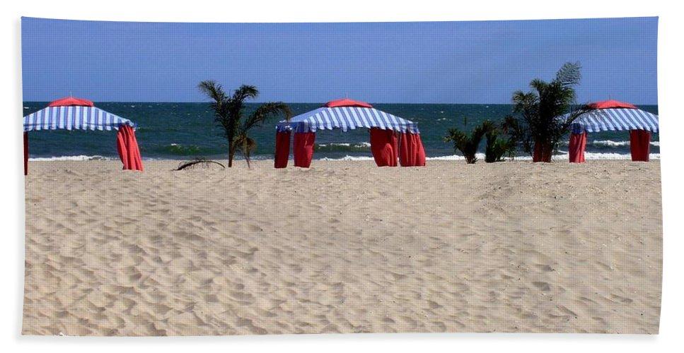 Beach Bath Sheet featuring the photograph Tent Caravan by Deborah Crew-Johnson