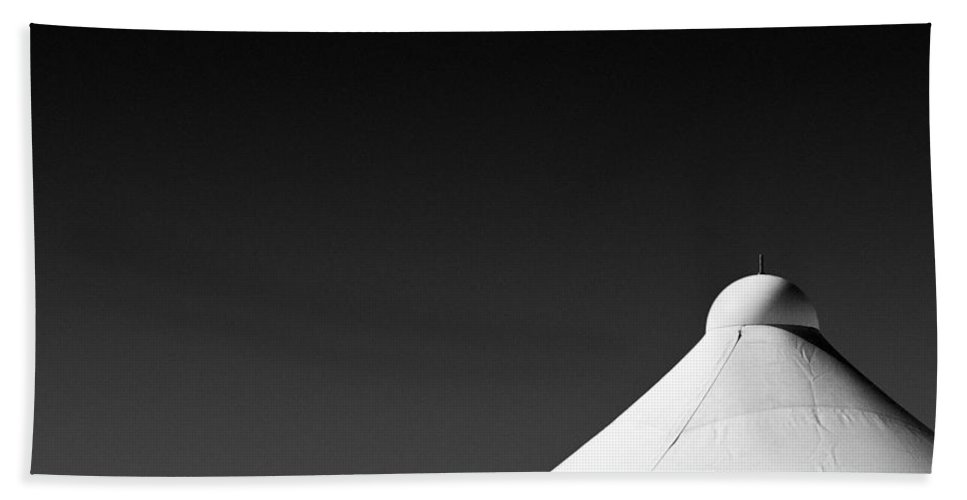 Tent Tops Hand Towel featuring the photograph Tent Tops by Dave Bowman