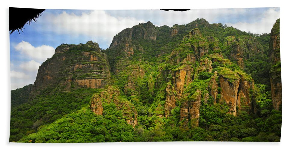 Skip Hunt Hand Towel featuring the photograph Tepozteco by Skip Hunt