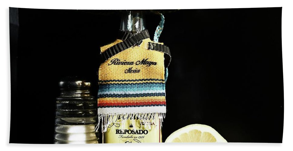 Food Bath Sheet featuring the photograph Tequila De Mexico by Nick Difi