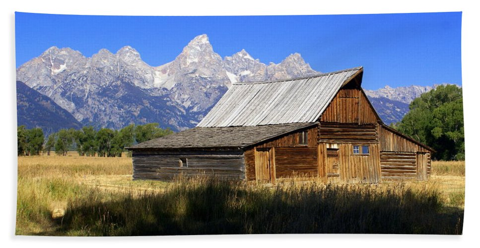 Grand Teton National Park Hand Towel featuring the photograph Teton Barn 5 by Marty Koch